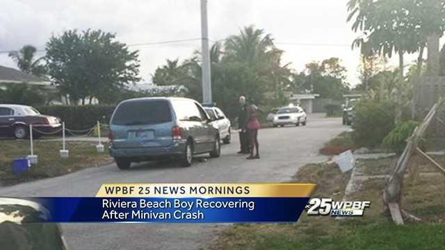 A boy was struck by a minivan in Riviera Beach over the weekend.