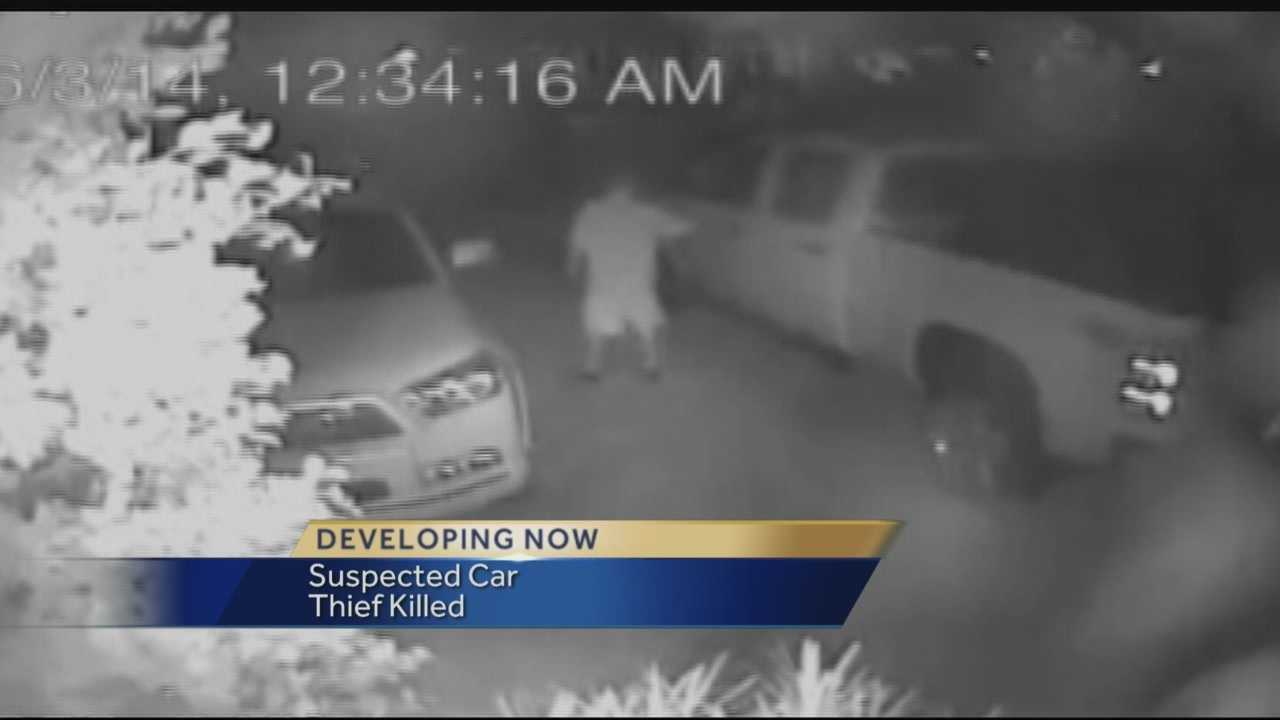 A suspected car burglar is dead and more are on the run after an attempted break-in in West Palm Beach, police say. It all started when the man attempted to steal a vehicle on Arlington Road near Flagler Drive.