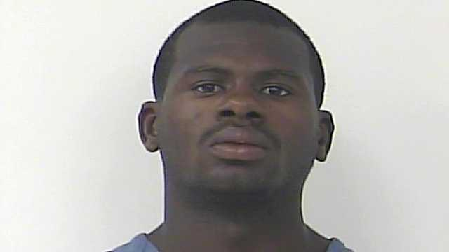 Inmate Parell Seay is accused of receiving a drug delivery while working with other inmates on a road in St. Lucie County.
