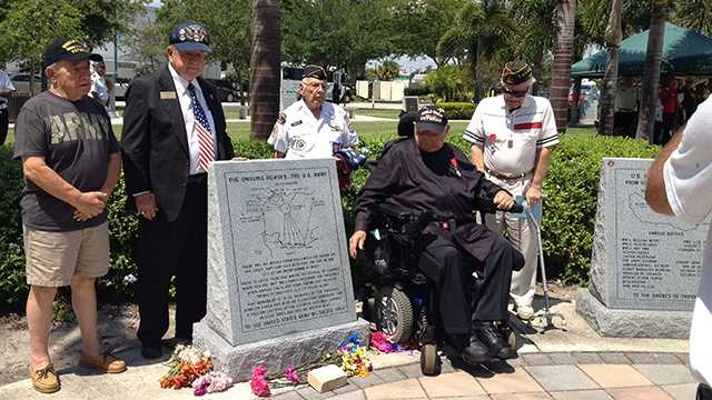 JUNE 6: Local dignitaries, veterans and residents gathered in Boynton Beach on Friday to honor the men who were on the French beaches during D-Day on June 6, 1944.