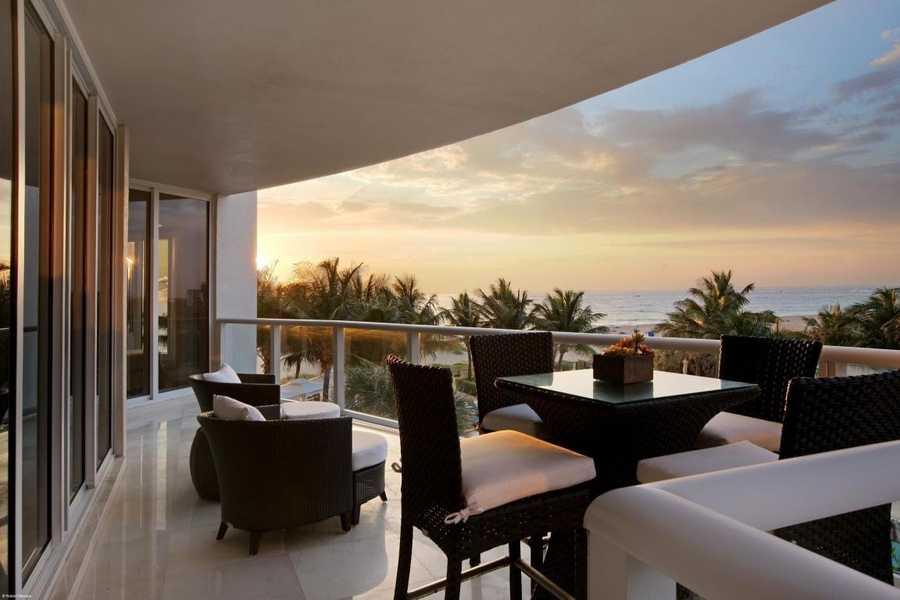 Breathtaking balcony.