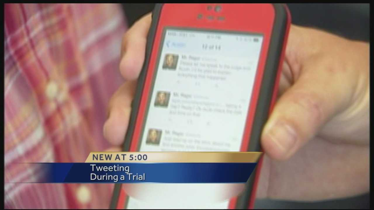 Attorney takes a stand after juror found Tweeting from courtroom
