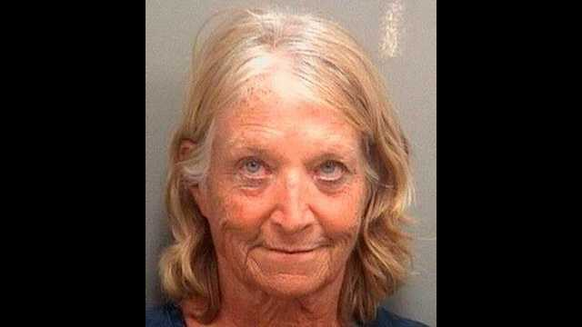 Carole Bryon is accused of eating a $60 meal at a Palm Beach Gardens restaurant, then telling the staff there that she didn't have any money to pay for it.