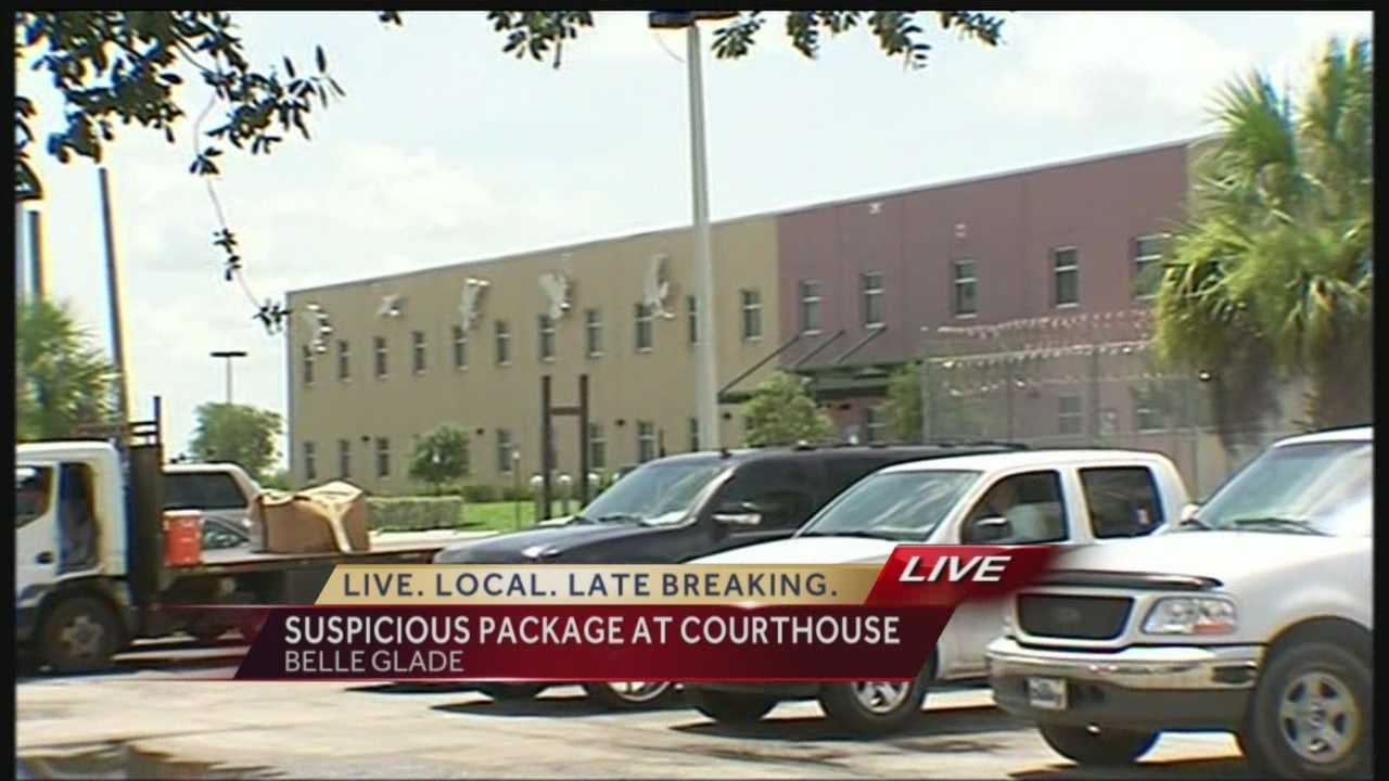 A partial evacuation was ordered at a local courthouse following the delivery of a suspicious package.