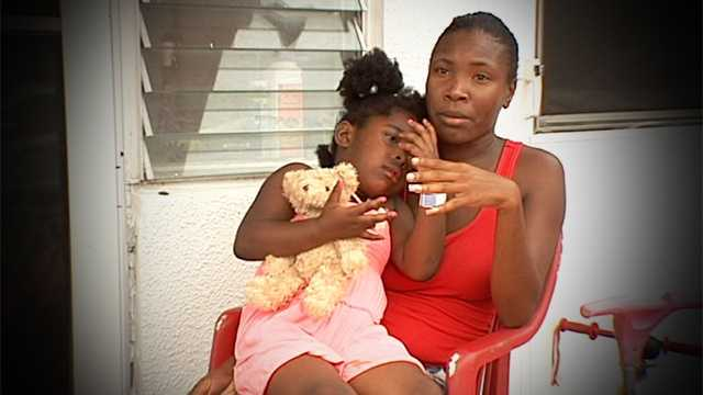 Zamaria Williams, 4, is recovering after she was attacked by a neighbor's pit bull in her front yard on Tuesday.