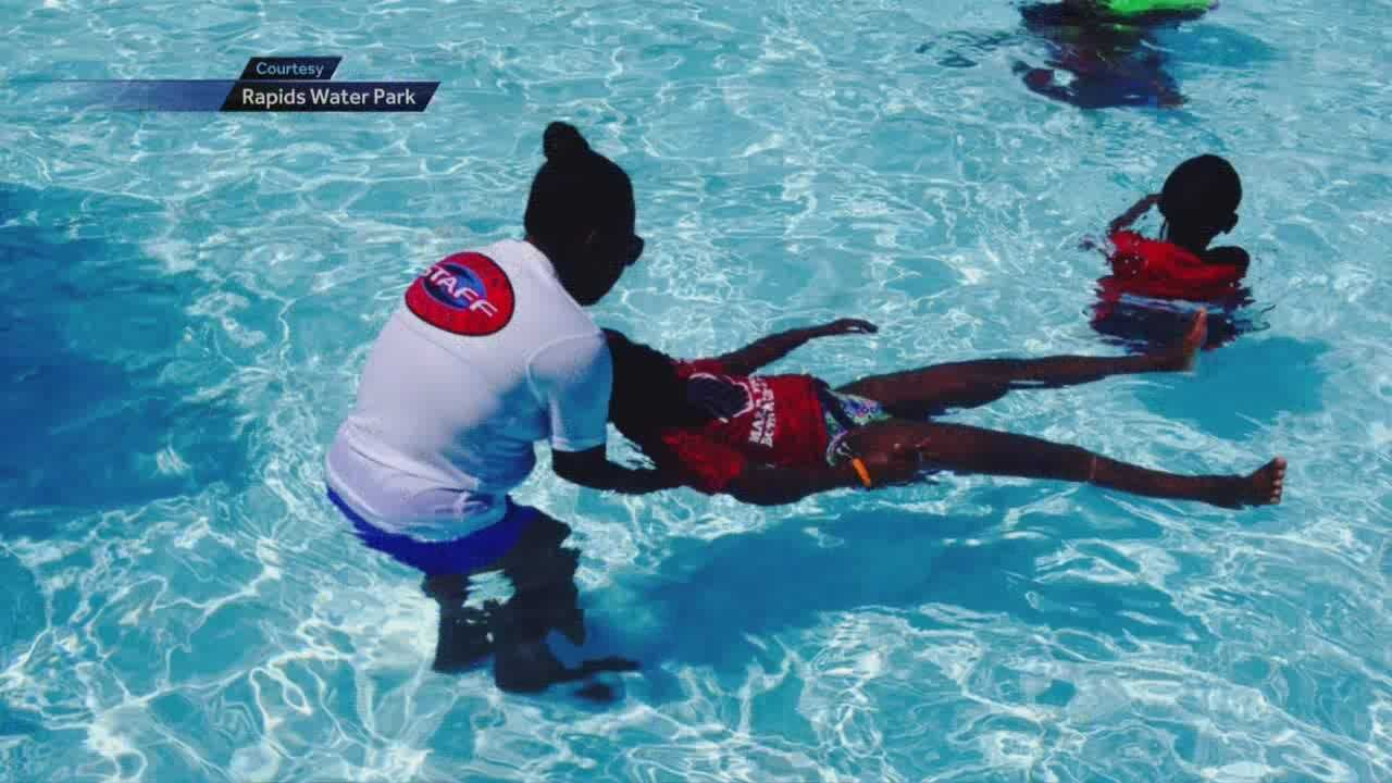 A pool in Delray Beach was one of several in Palm Beach County to participate in Friday's world's largest swimming lesson.