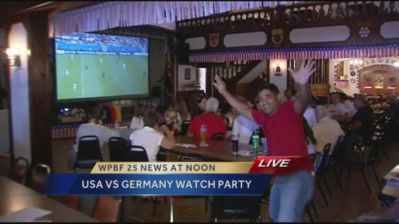 Close to 160 people flocked to the American-German Club in Lantana Thursday to watch the match.