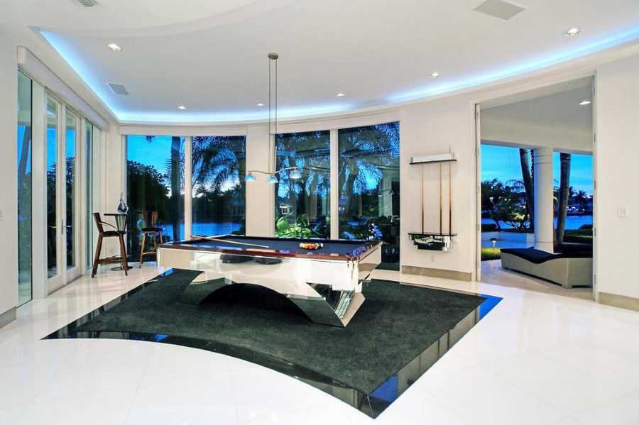 Take in the views during a game of pool.