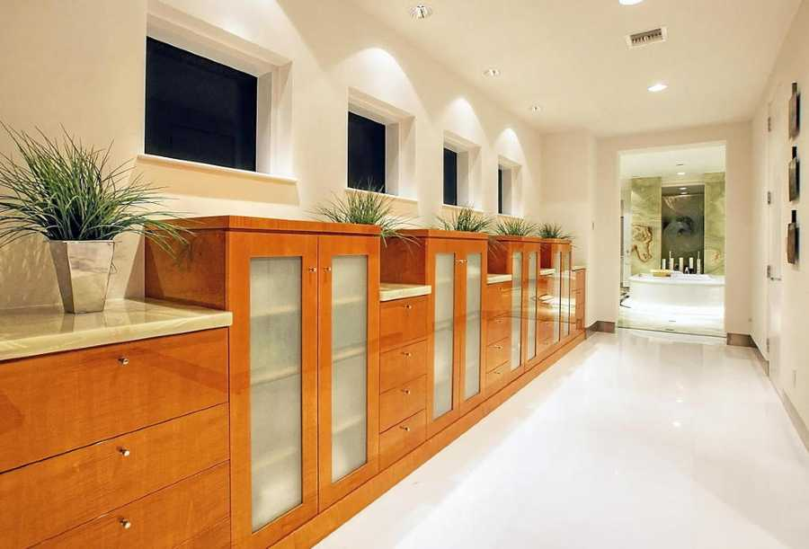 Custom cabinetry in the master closet.