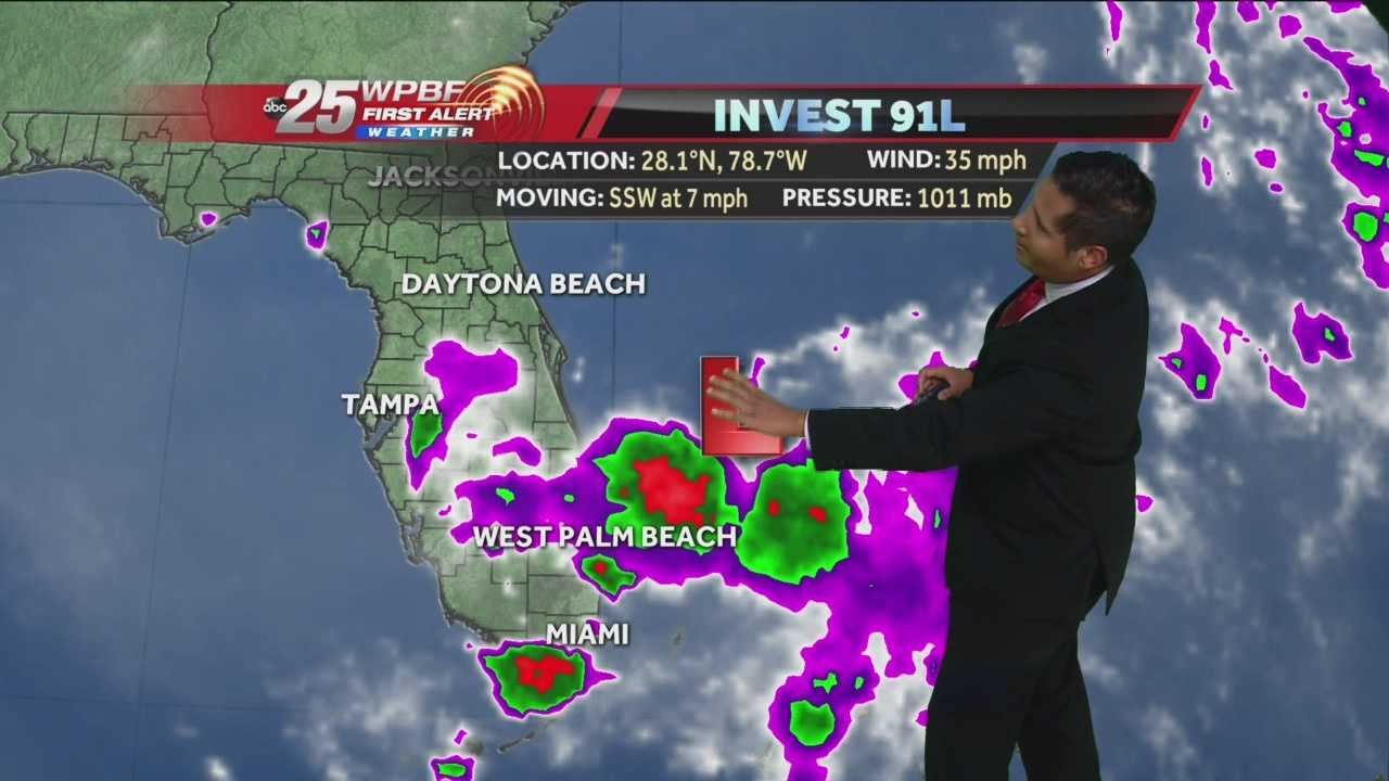 South Florida will likely see heavy rainfall Monday evening and into Tuesday as invest 91L spins along the Florida coastline. Flooding is a possibility in some areas. Meteorologist Cris Martinez has the latest and what you can expect.