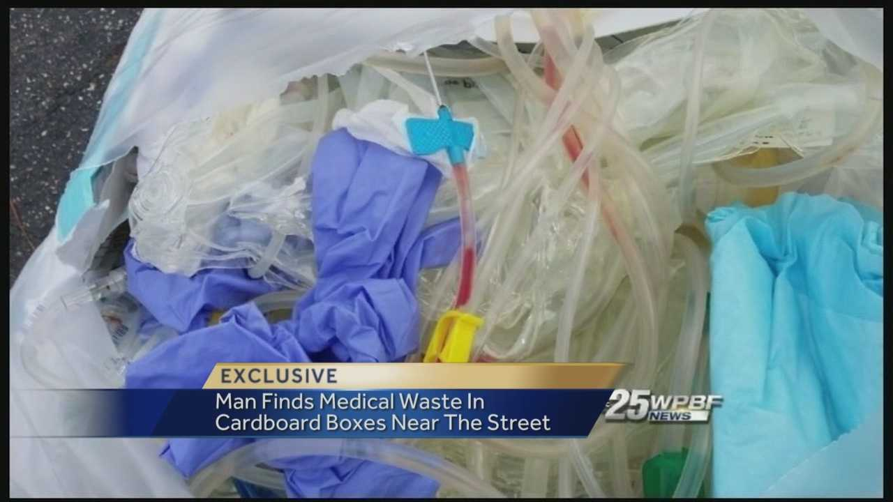 Residents in a Lake Park town home community on Emerald Vista are voicing concern after boxes of biohazard medical waste have repeatedly been left out on the curb.  Reporter Ted White has the story.