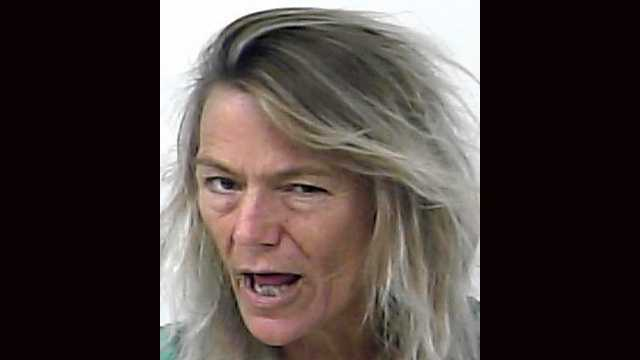 Elizabeth Highley, 56, was arrested and is facing an aggravated assault charge after allegedly chasing a 25-year-old man with a knife after he refused to have sex with her, according to the arrest report.