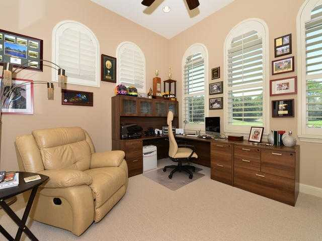 One of the two custom offices in the home.