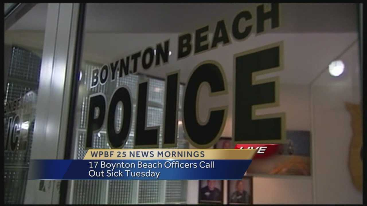 In the midst of contract negotiations, 17 police officers called out sick Tuesday in Boynton Beach. Mayor Jerry Taylor said the officers might just be sick, but negotiations between the city and the police officers have not being going as smoothly.