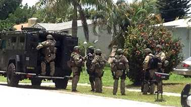 A photo of the SWAT team on scene in West Palm Beach.
