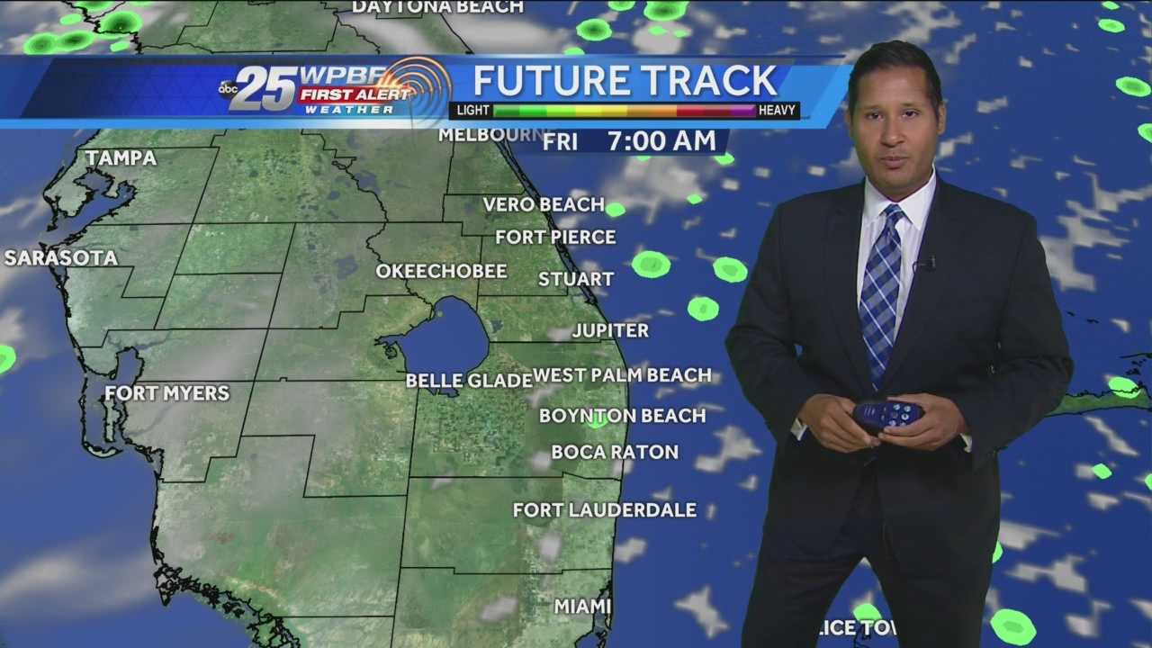 Scattered showers push through, drier Friday and weekend ahead