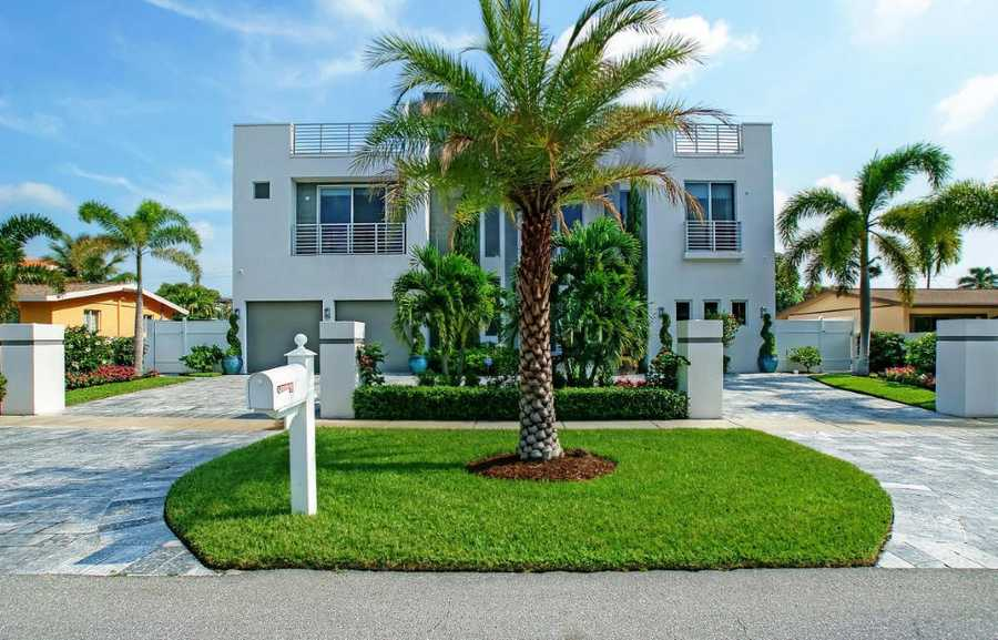 The modern home sprawls 5,298 sq. ft.