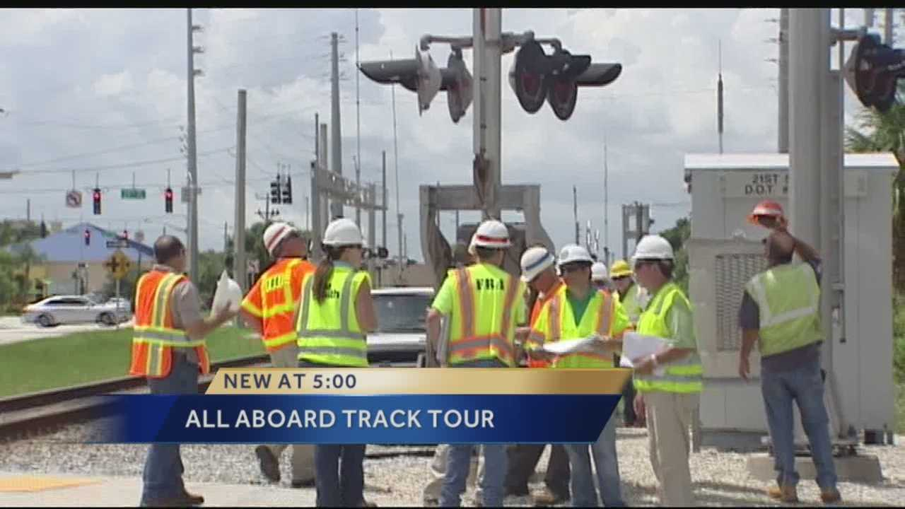 Engineers toured Vero Beach's train track crossings Tuesday as part of an inspection of all crossings for the first phase of All Aboard Florida's project to bring rail transportation from Miami to Orlando.