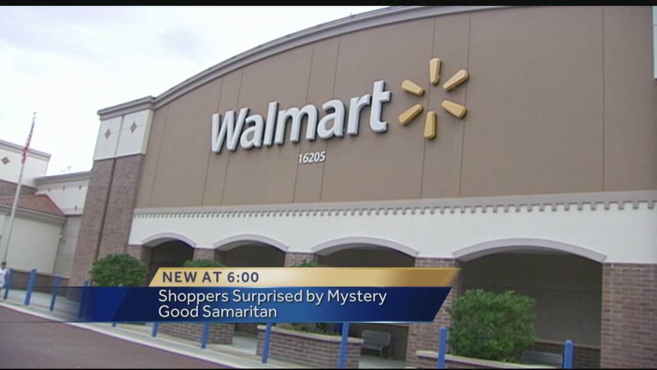 Generous shopper visits local Walmart