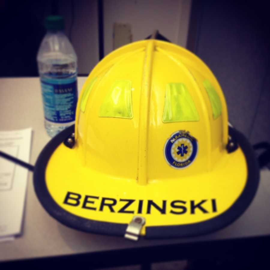 Stephanie's official training helmet.