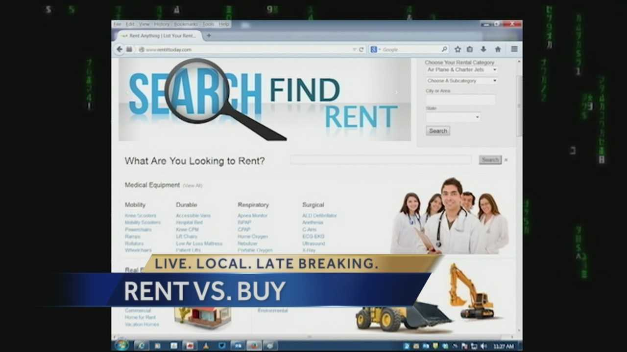 Whether it's homes, cars, power tools, a dog, or even friends, the point is that you can rent just about anything -- and you probably should. WPBF 25 New's Paul Lagrone breaks it down for you.
