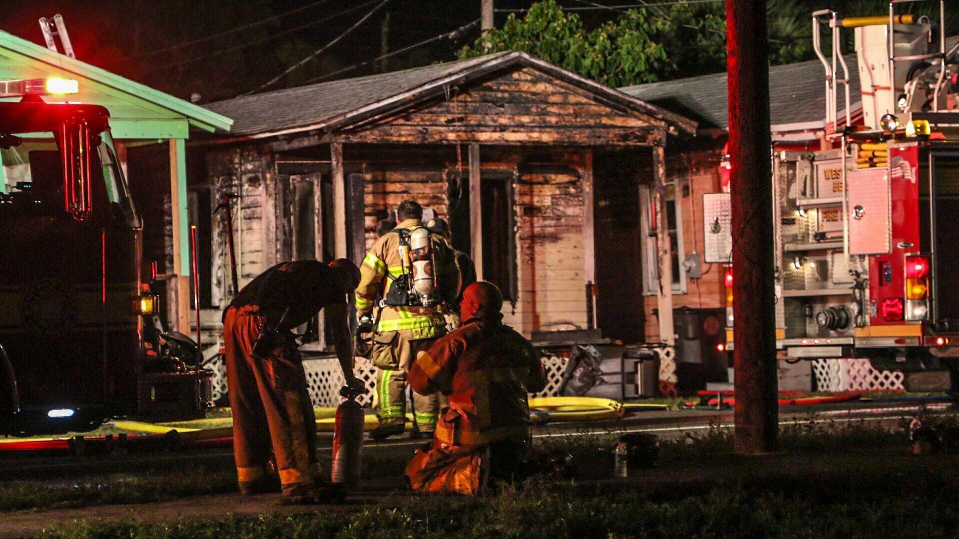 Homes burn