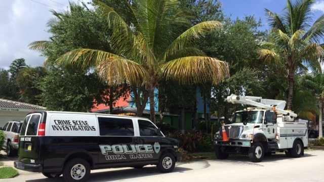 Boca Raton tree trimmer hurt