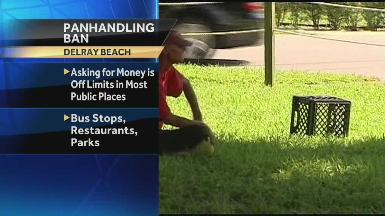 Police in Delray Beach are using a new panhandling ordinance in the city to inform homeless people about potentially life-saving programs. Chris McGrath has the report.