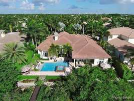 Aerial view of the 4,191 sq. foot estate.