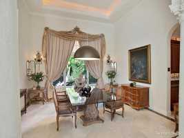Glamorous dining room for four.