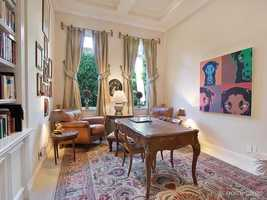 The mansion also includes a spacious home office for the busy professional.