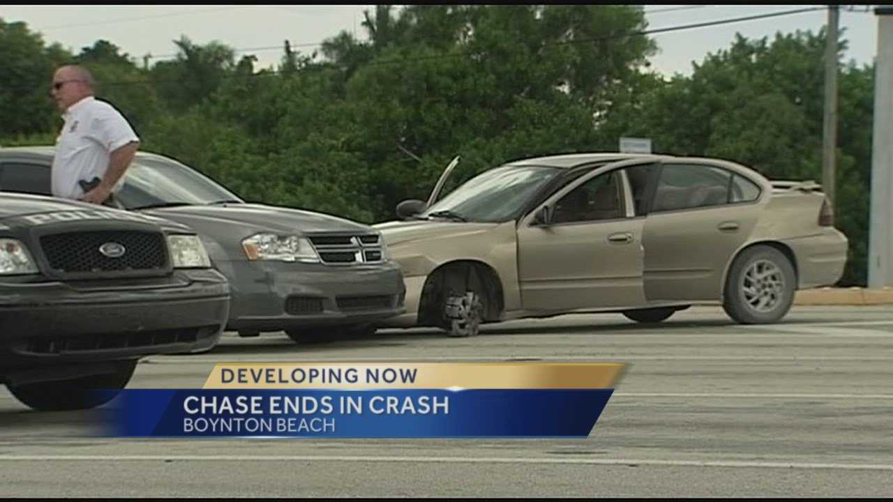 Traffic stop leads to crash on I-95