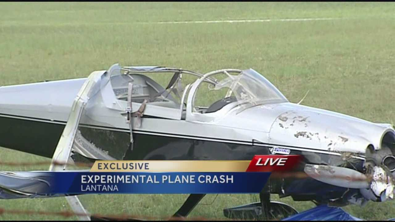 Experimental plane makes crash landing