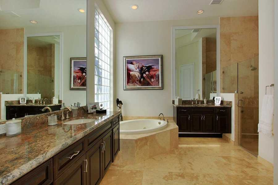 Exquisite master bathroom.