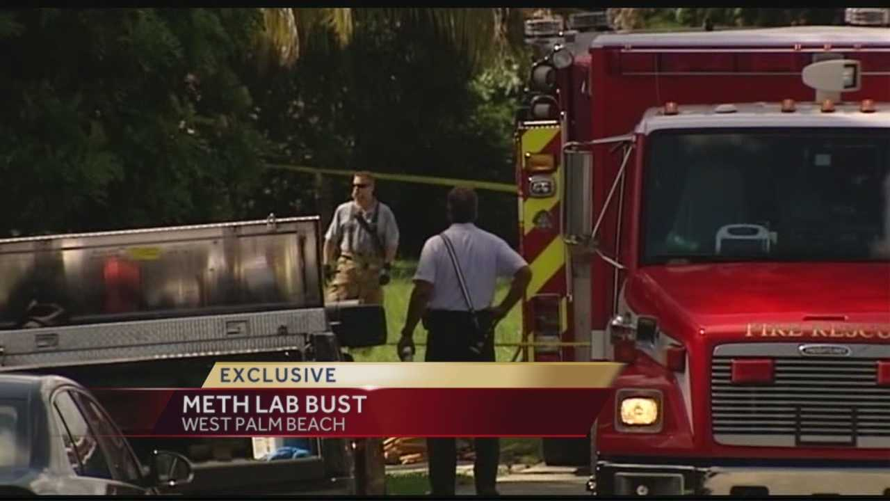 Palm Beach County Sheriff's deputies arrested two people after raiding a meth lab in West Palm Beach Wednesday morning. Chris McGrath has the story.
