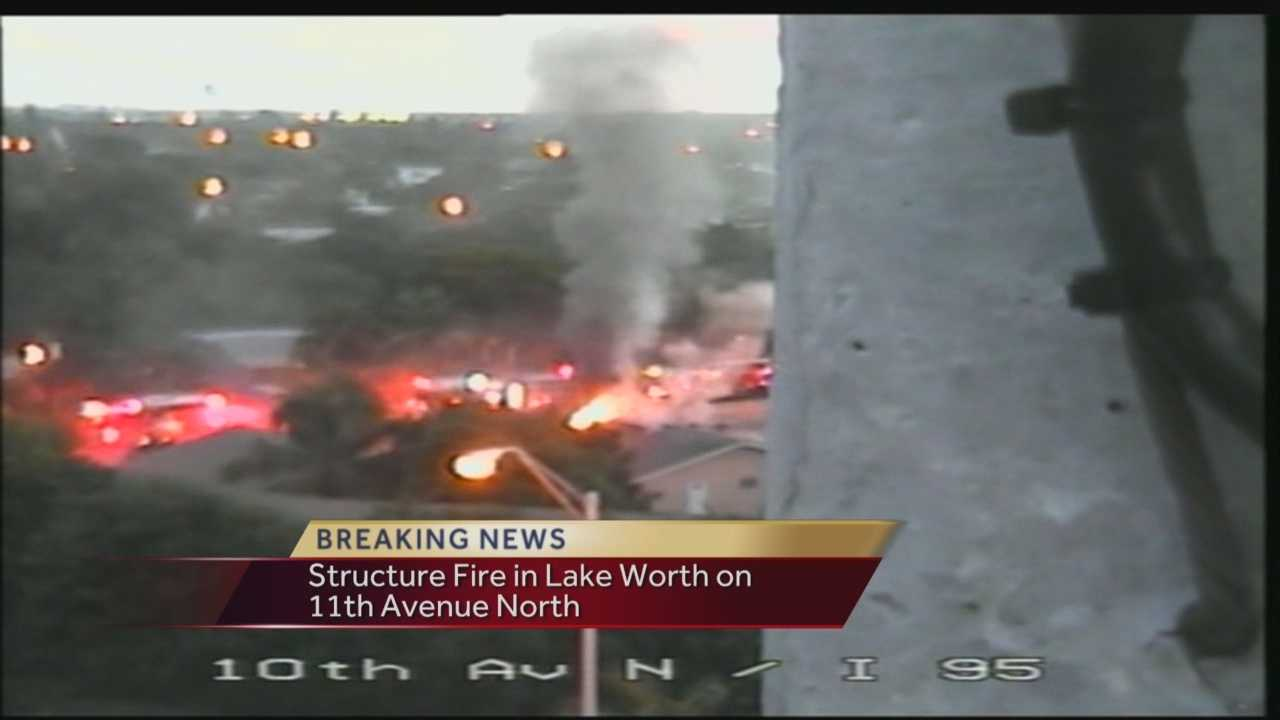 Palm Beach County Fire Rescue battled a house fire in Lake Worth Friday morning.