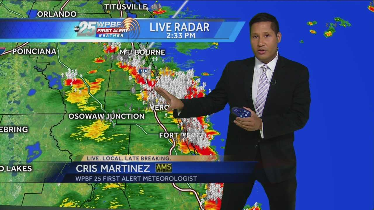 On Friday afternoon thunderstorms rolled through West Palm beach and surrounding counties. Meteorologist Cris Martinez has your stormy forecast.