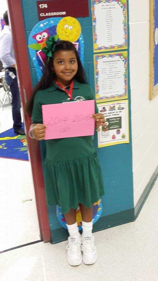 My princess is in 1st grade! --From Angie Vera