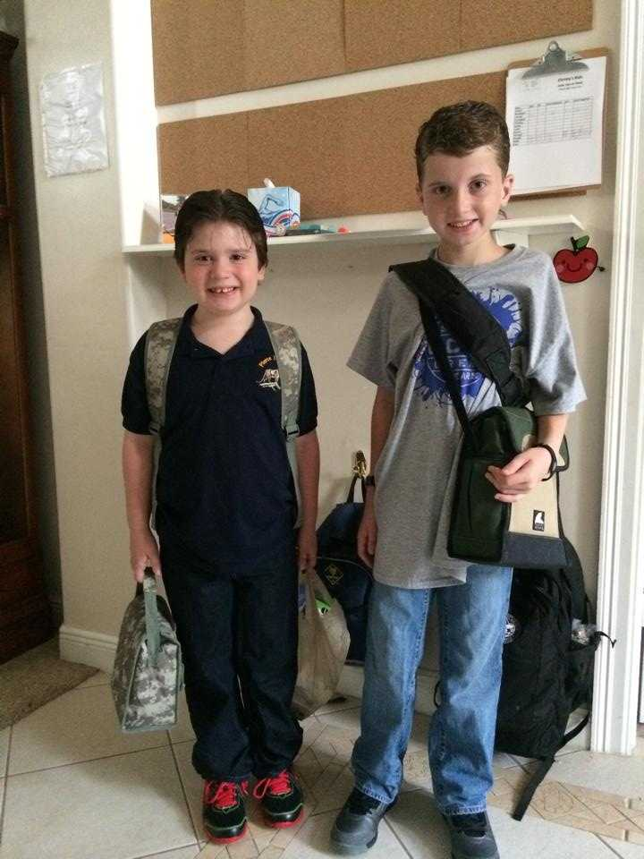 My 2nd grader and 6th grader --From Christina Wilson
