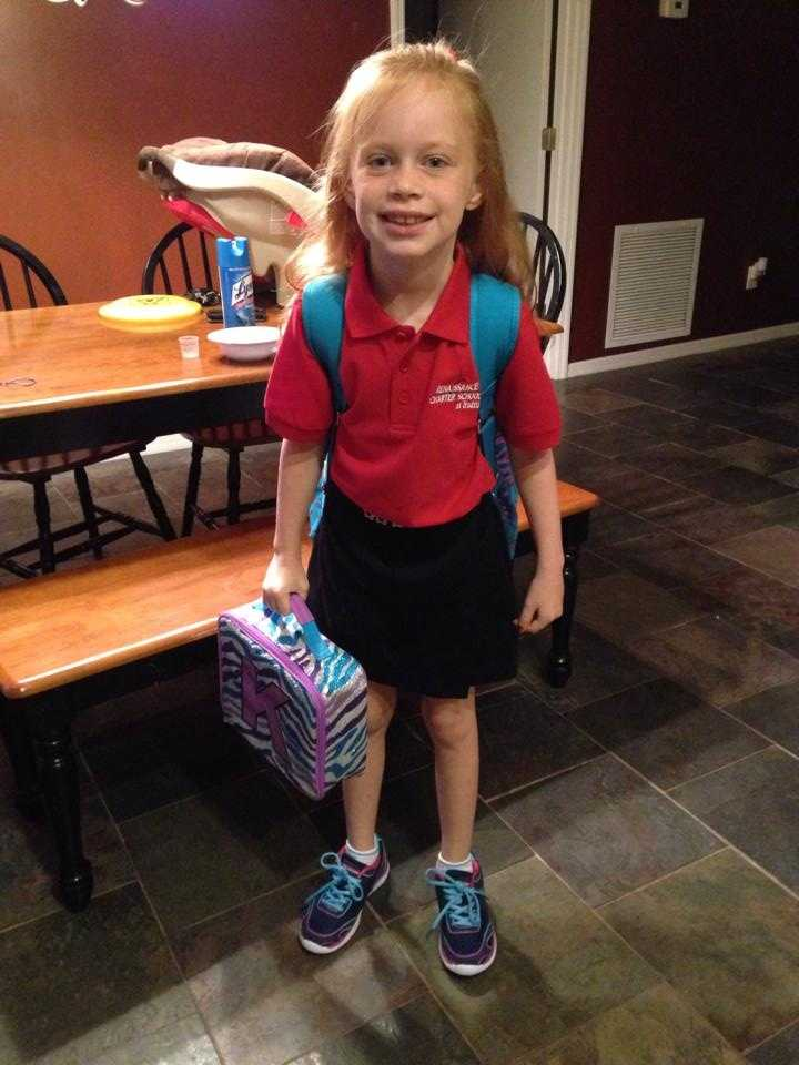 2nd grade! Keira is so excited to start a new journey at her new school this year. --From Jenny Mae Cray