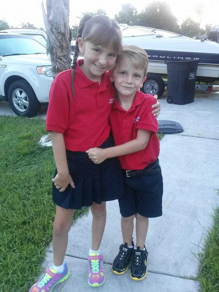 Our 4th Grader & Our Kindergartner!-- From Kimberly Brooker-Siano