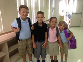 All ready for 4th, 3rd, 2nd, and 1st grade!!!! Yay! -- From Dana Williams