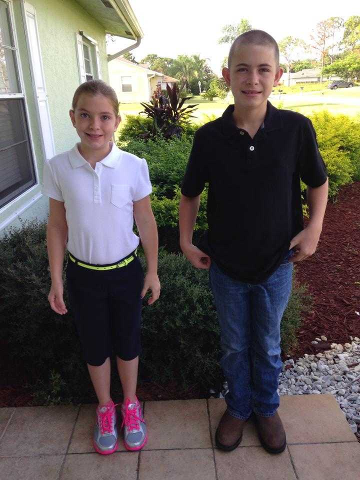 5th & 7th graders Dylan and Savannah Haley In Port St. Lucie --From Nikki Haley
