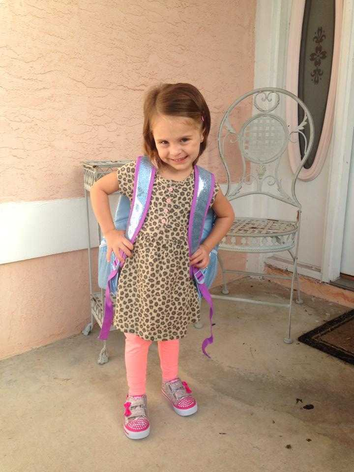 Annsley's first day if school in the 3 year old class!-- From Amanda Lynn