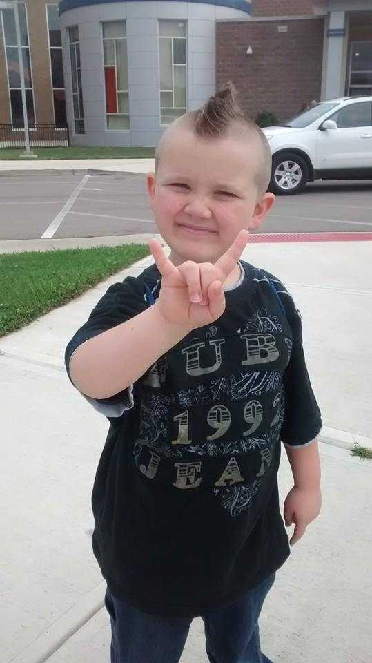 My baby boy, Coby, on his first day of 1st grade. -- From Shawna Taylor