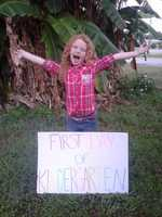 First day of kindergarten for Melody -- From Meagan Hankin
