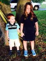 First day of pre-k and 3rd grade. I'm one proud mom :) -- From Jessica Hobson Sayers