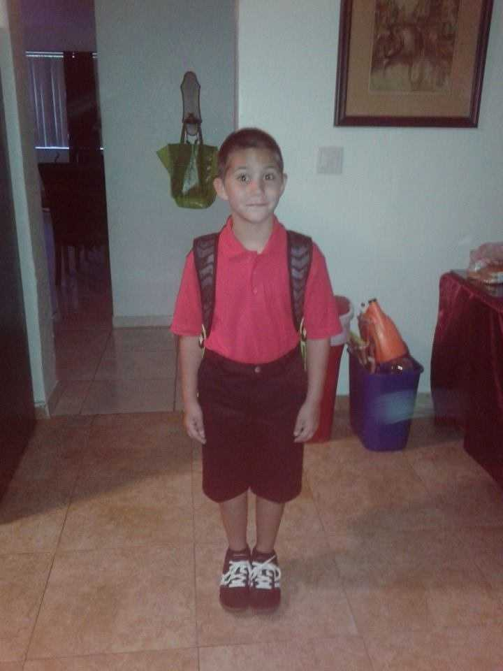 Julian's first day of 2nd grade. We love you --From Aj D'Angelo
