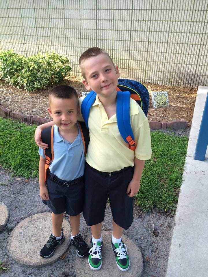 Kindergarten and fourth grade --From Rebecca Council-Jordan