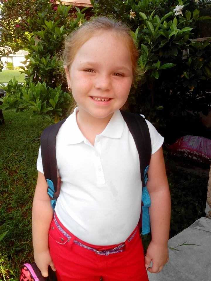 Miss Skylar all ready for Kindergarten -- From Amanda Canegallo